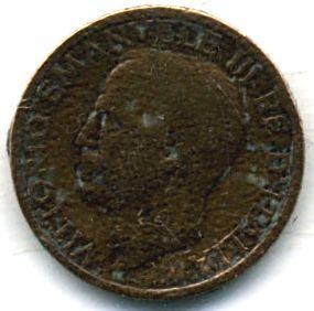 Итальянская монета 1920 года с профилем